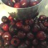 fresh pitted cherries