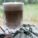 latte with milk frother