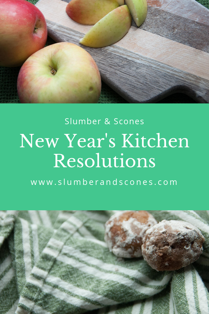 pinterest image for new year's kitchen resolutions
